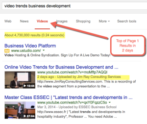 Using Online Video for Business Development